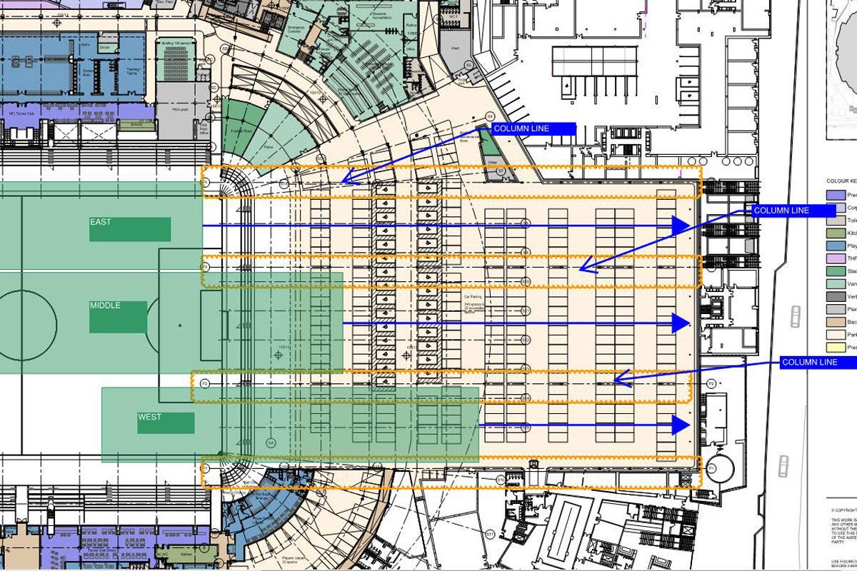 campo retrattile nuovo stadio Tottenham