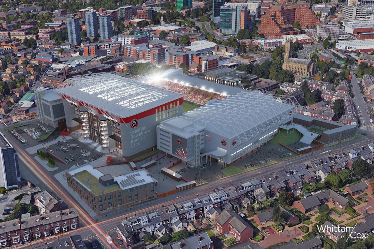 sheffield united progetto ampliamento tribuna stadio