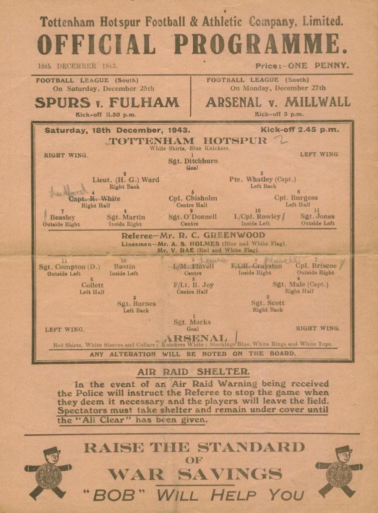 highbury-match-programme-tottenham