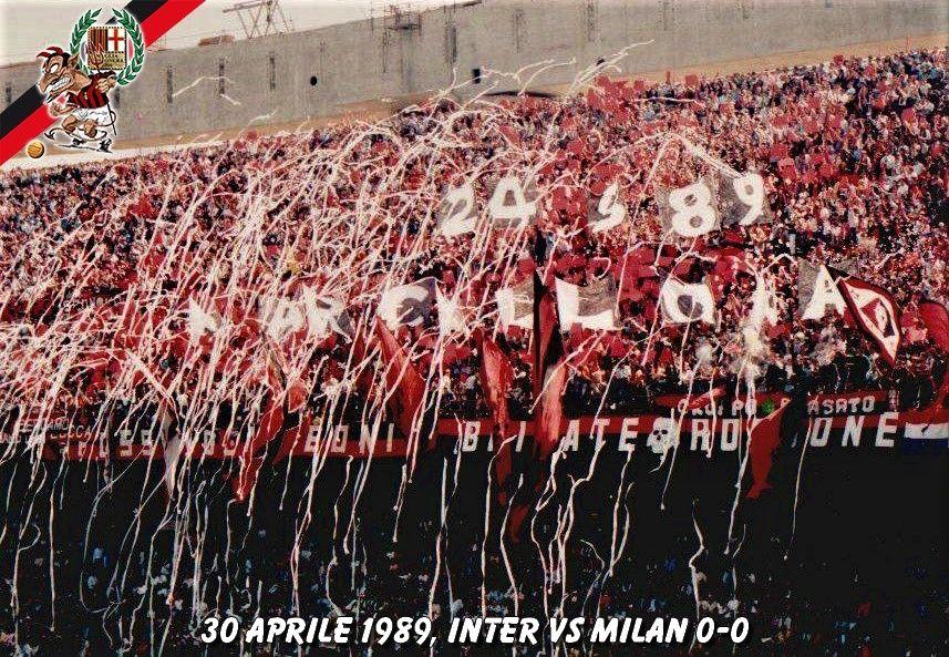 derby inter milan curva 1989