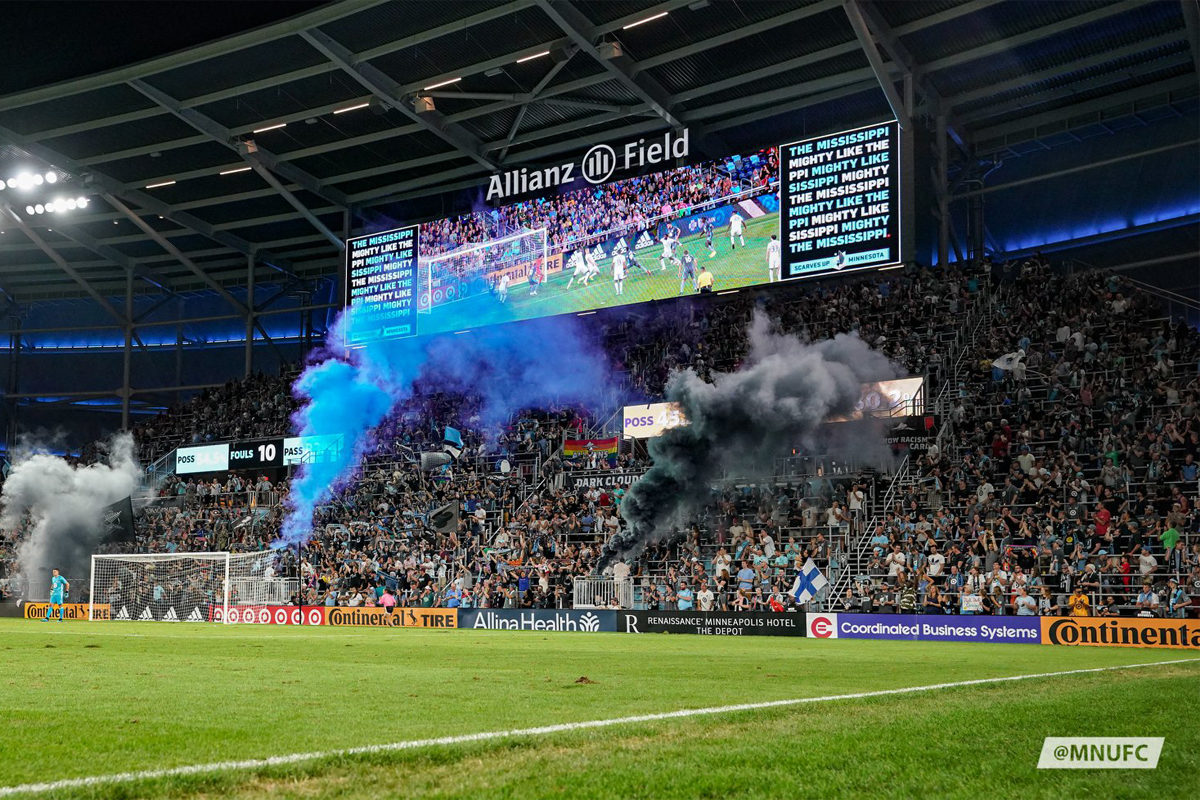 allianz field minnesota united tifosi