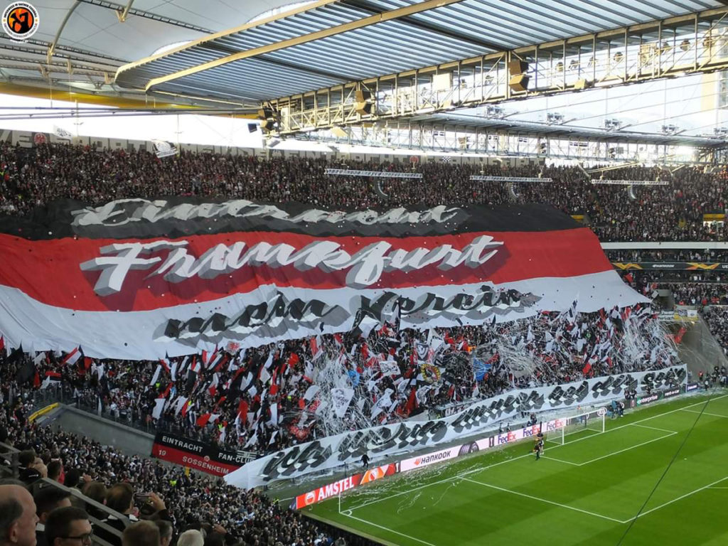 eintracht francoforte arsenal coreografia europa league