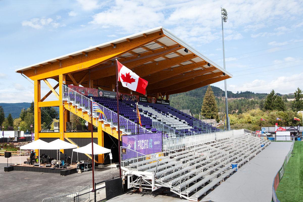 westhills stadium langford canada legno lamellare