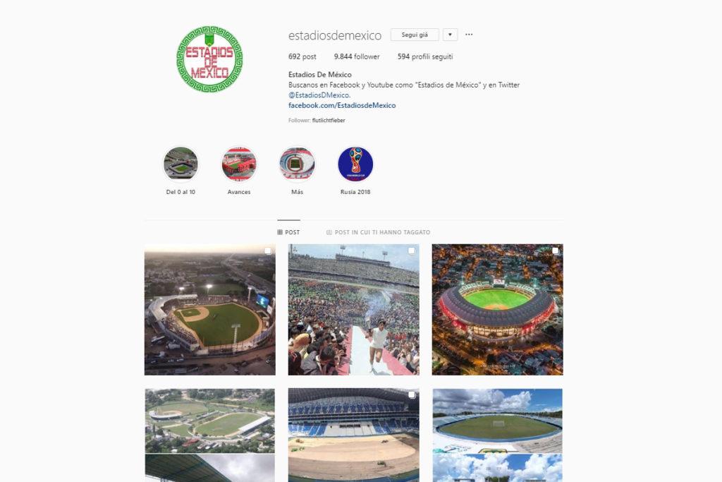 5 profili instagram per chi ama gli stadi