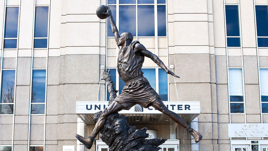 united center chicago statua michael jordan