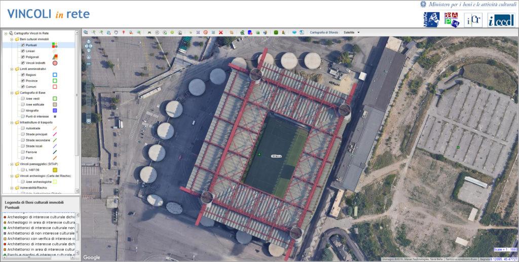 stadio meazza milano san siro situazione vincolo ottobre 2019
