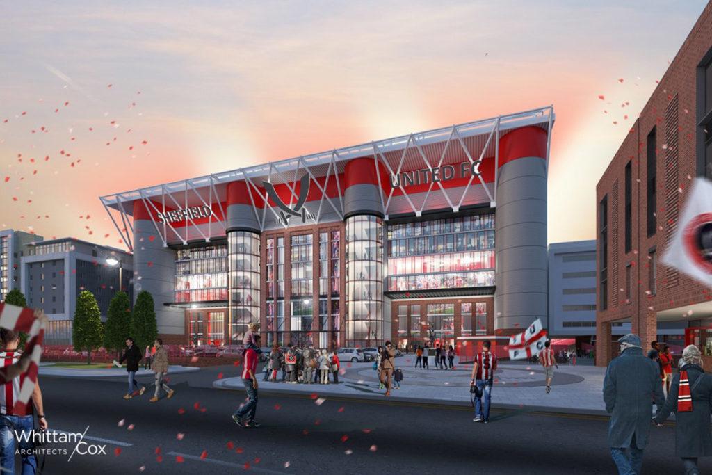 Sheffield United progetto ampliamento tribuna stadio Bramall Lane