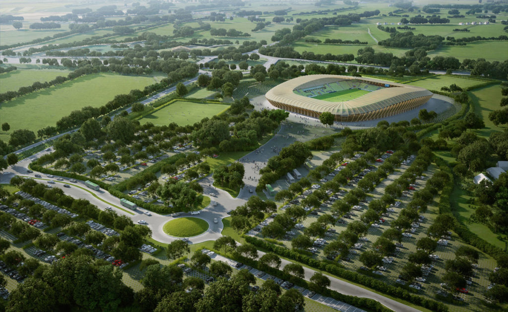 Forest Green Rovers progetto stadio in legno