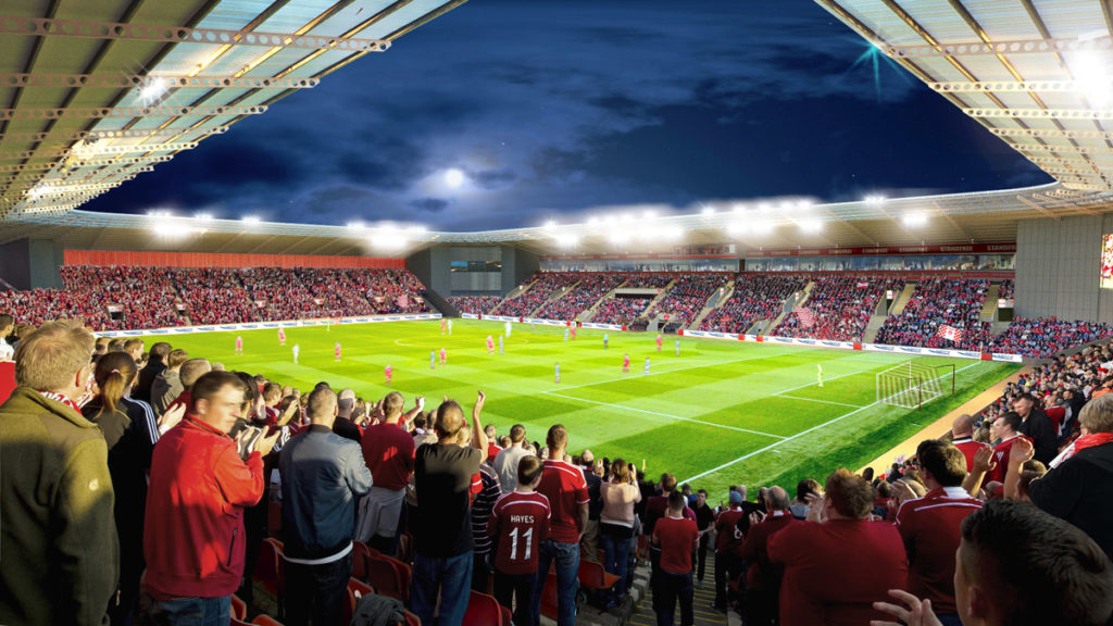 Aberdeen FC progetto nuovo stadio
