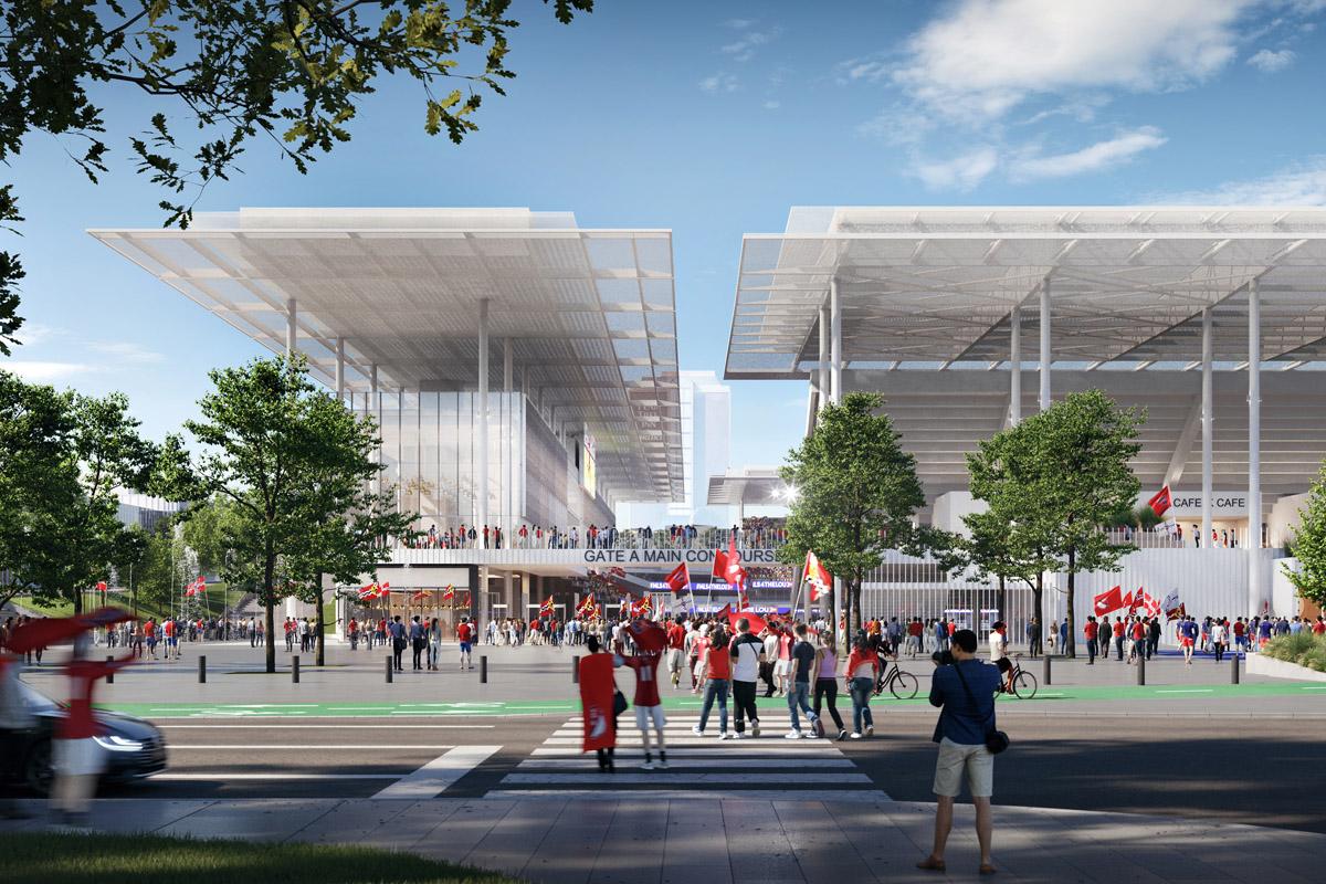 Saint Louis stadio progetto HOK
