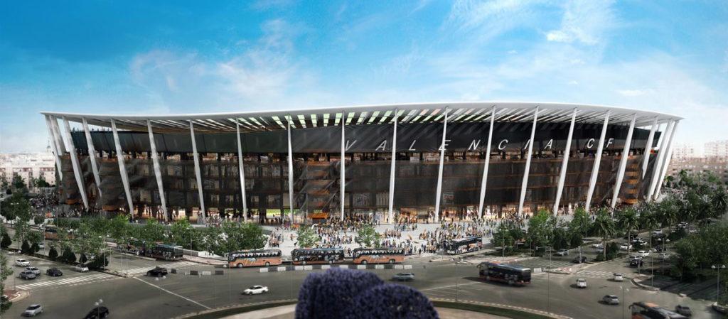 nuovo stadio Mestalla progetto Valencia