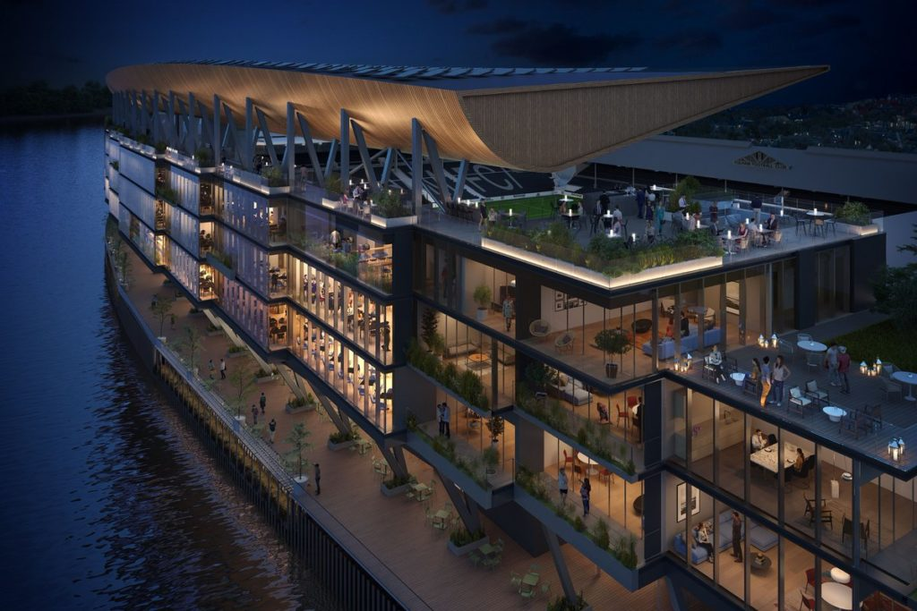 riverside stand fulham progetto render populous