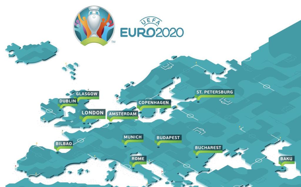 euro 2020 mappa città stadi