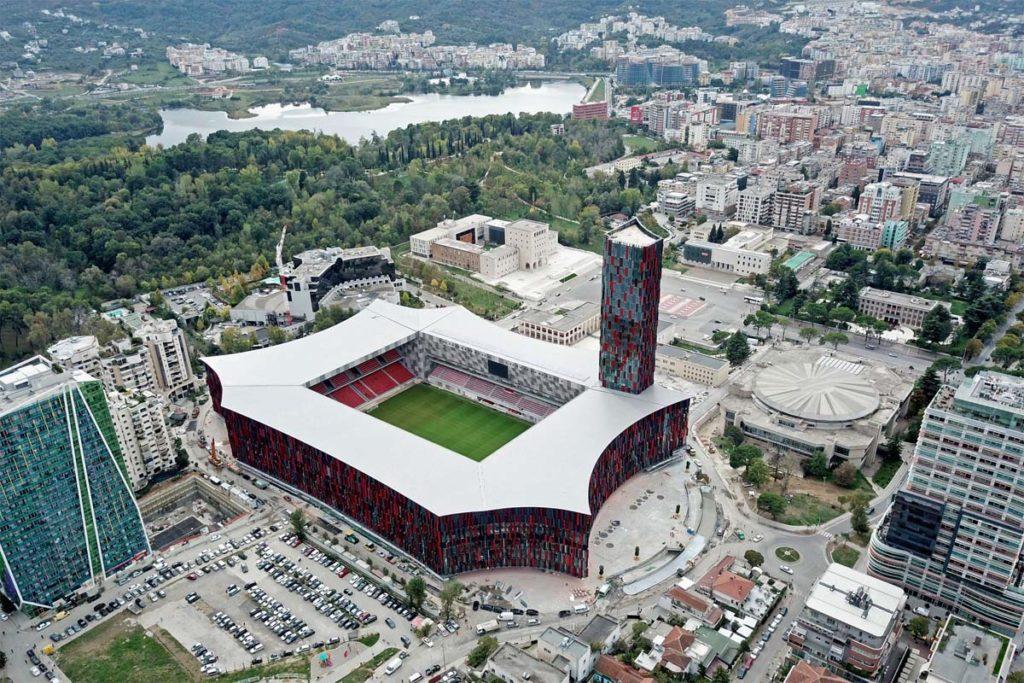 albania stadium tirana vista aerea
