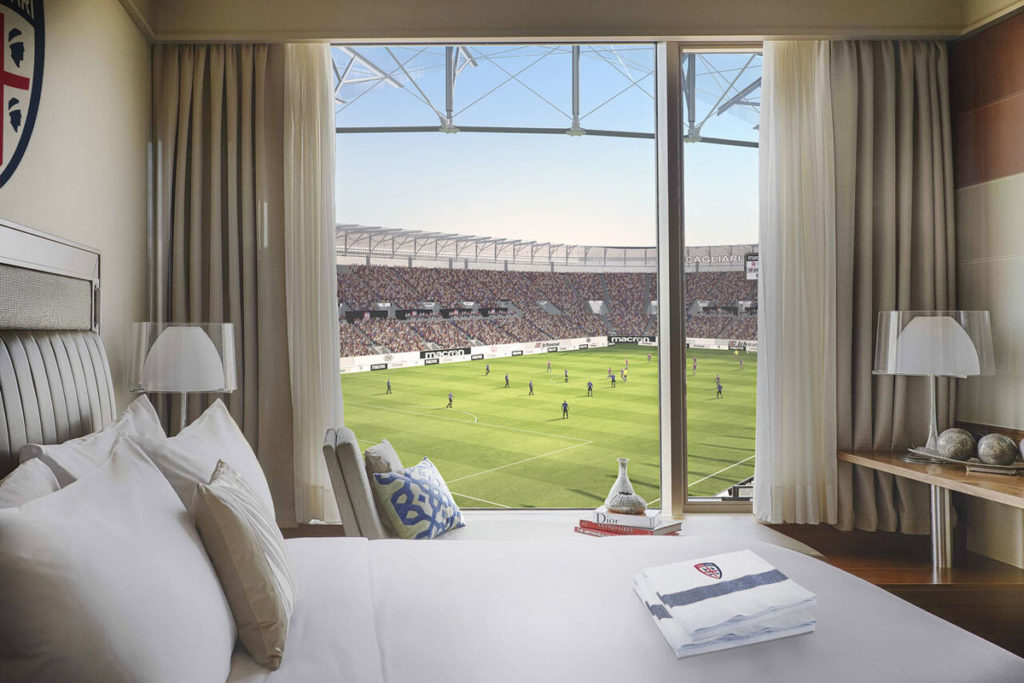 nuovo stadio cagliari sportium hotel camera