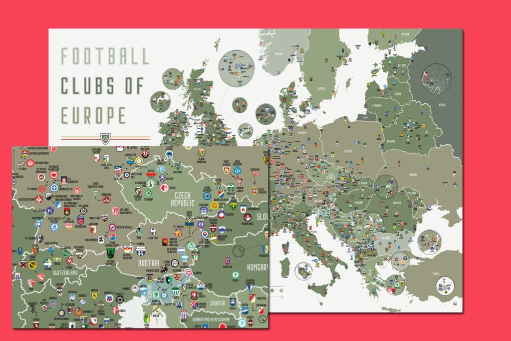 mappa stadi europa