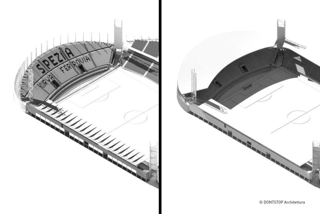 spezia stadio picco progetto dontstop curva ferrovia confronto ipotesi