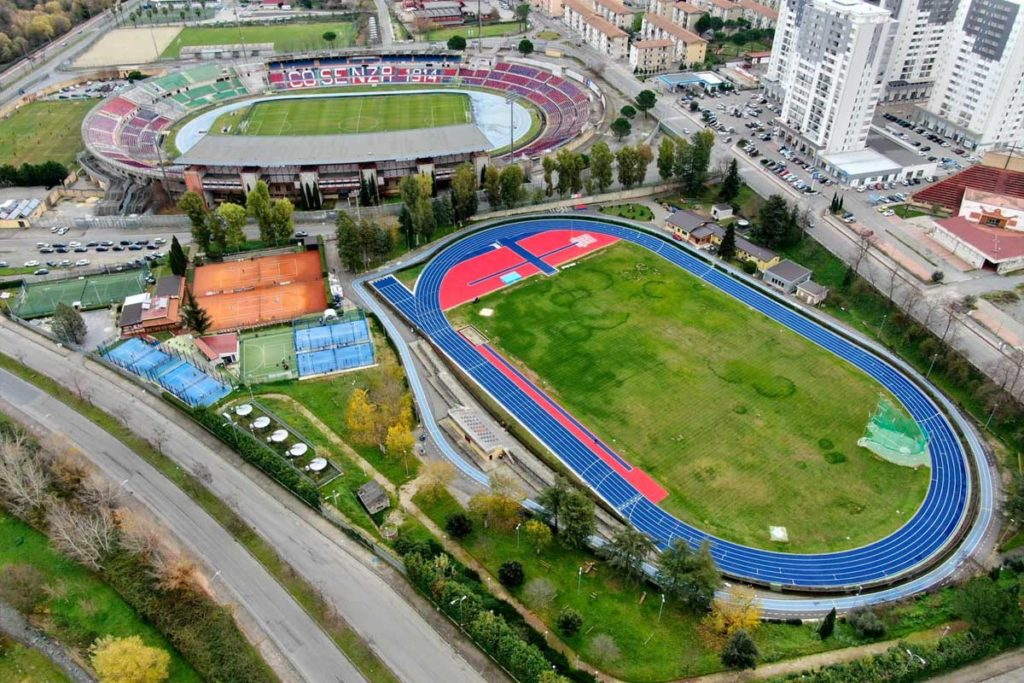 cosenza pista atletica stadio restyling