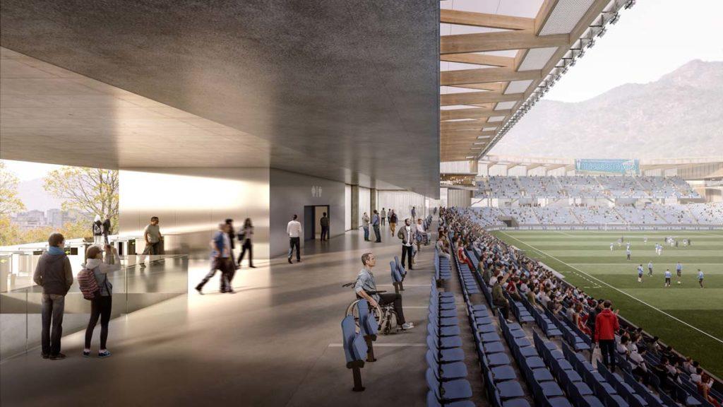 cile nuovo stadio universidad catolica interno gradinate