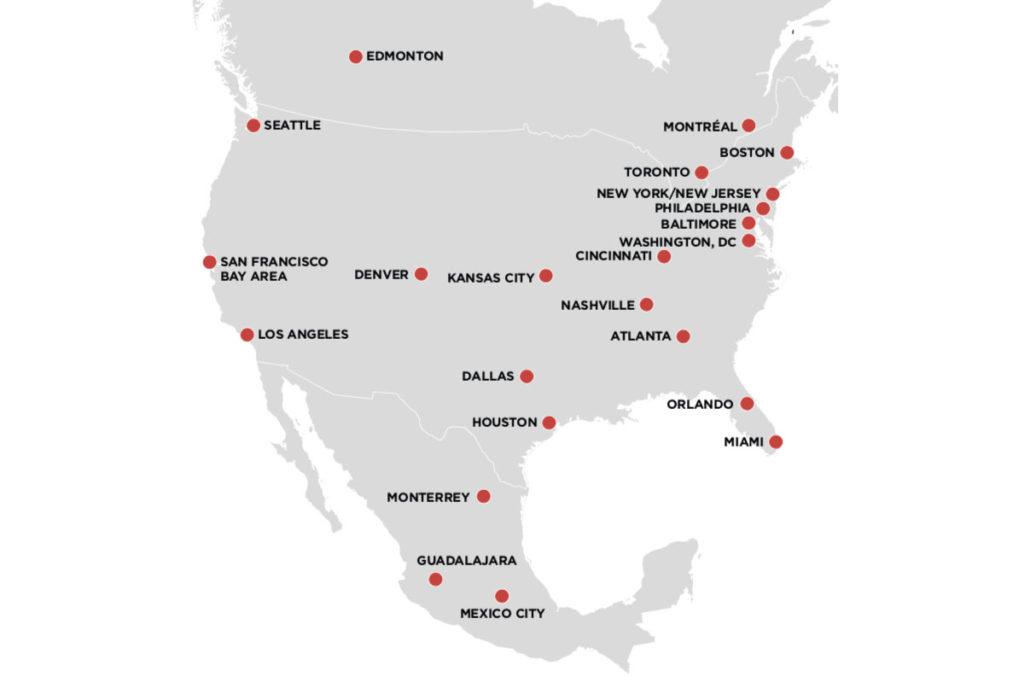 mondiali 2026 città candidate