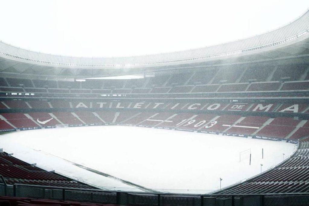 neve madrid stadio wanda metropolitano atletico
