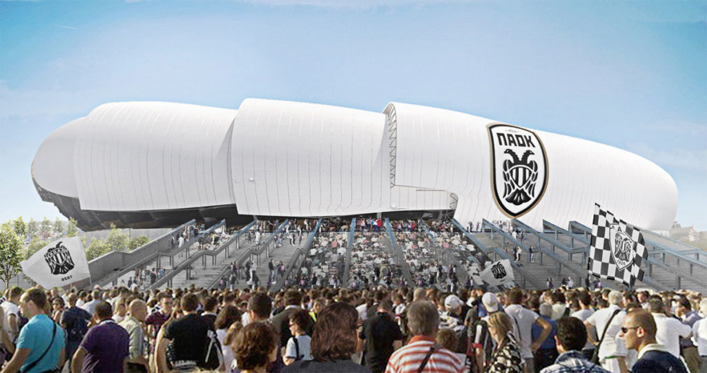 paok nuovo stadio a&s architects vista esterna