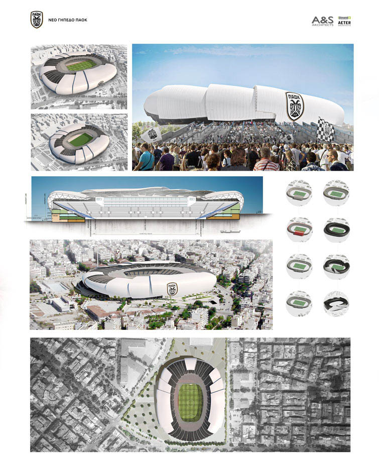 paok nuovo stadio a&s architects progetto