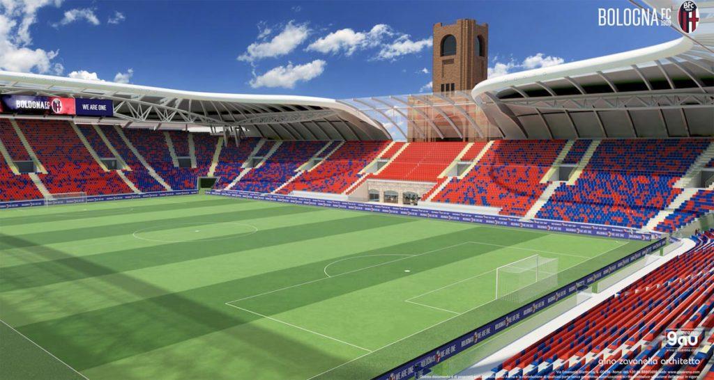 restyling stadio bologna gau arena