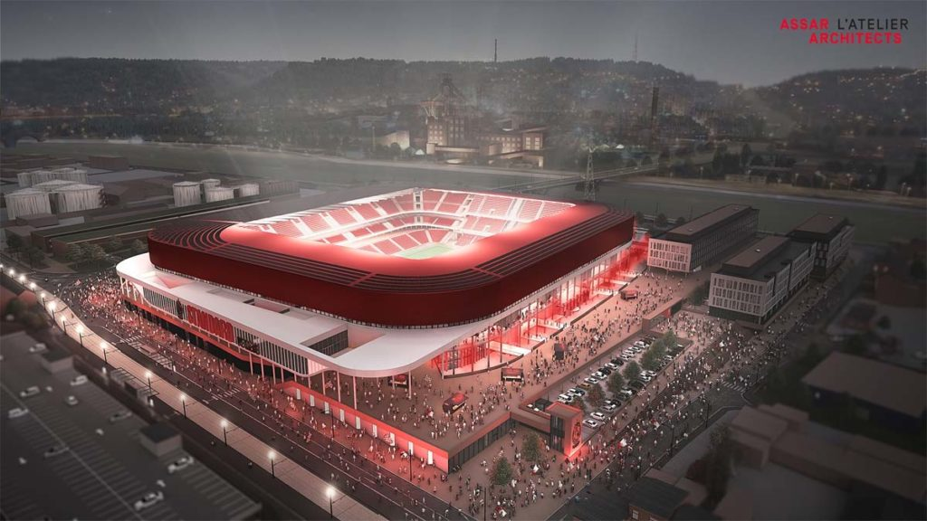 standard liegi restyling stadio assar architects