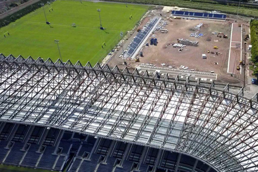 edimburgo nuovo stadio rugby murrayfield panoramica lavori
