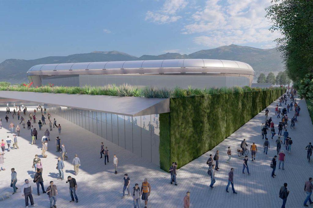 ternana nuovo stadio esterno