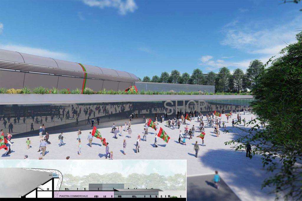 ternana nuovo stadio esterno e sezione
