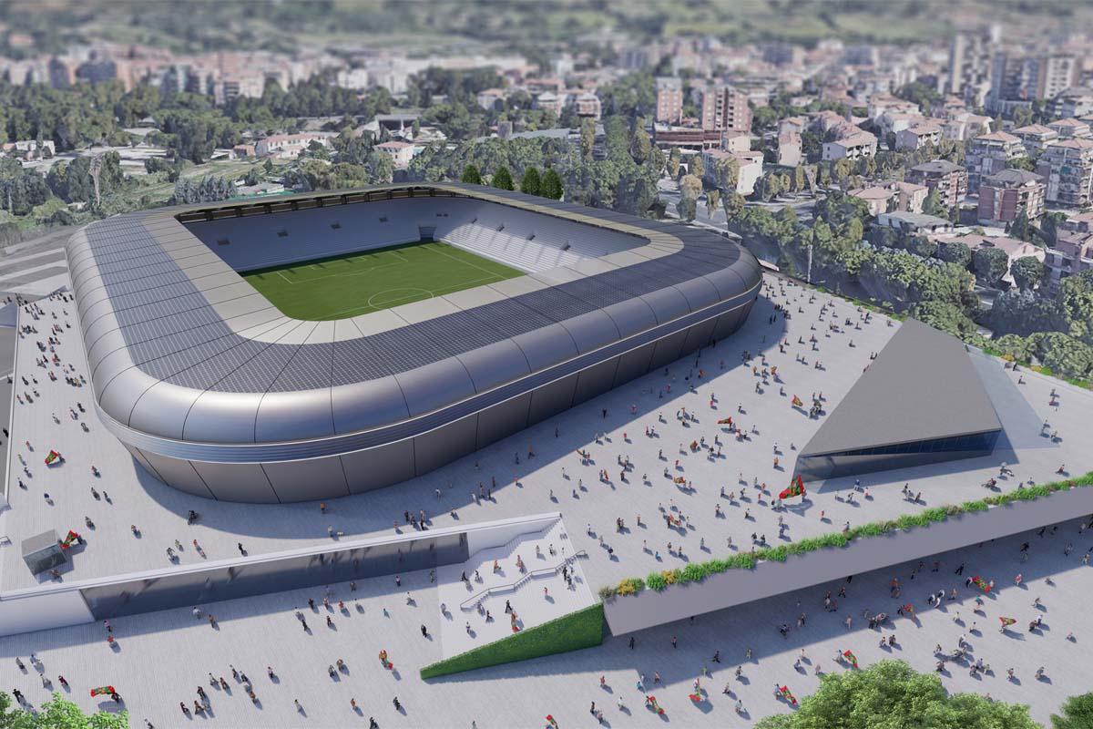 ternana nuovo stadio esterno panoramica