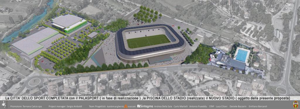 ternana nuovo stadio urbanistica