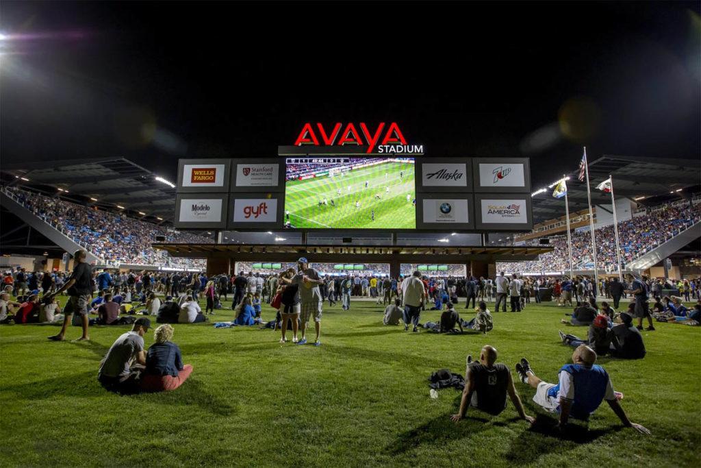 avaya stadium gradinata settore bar