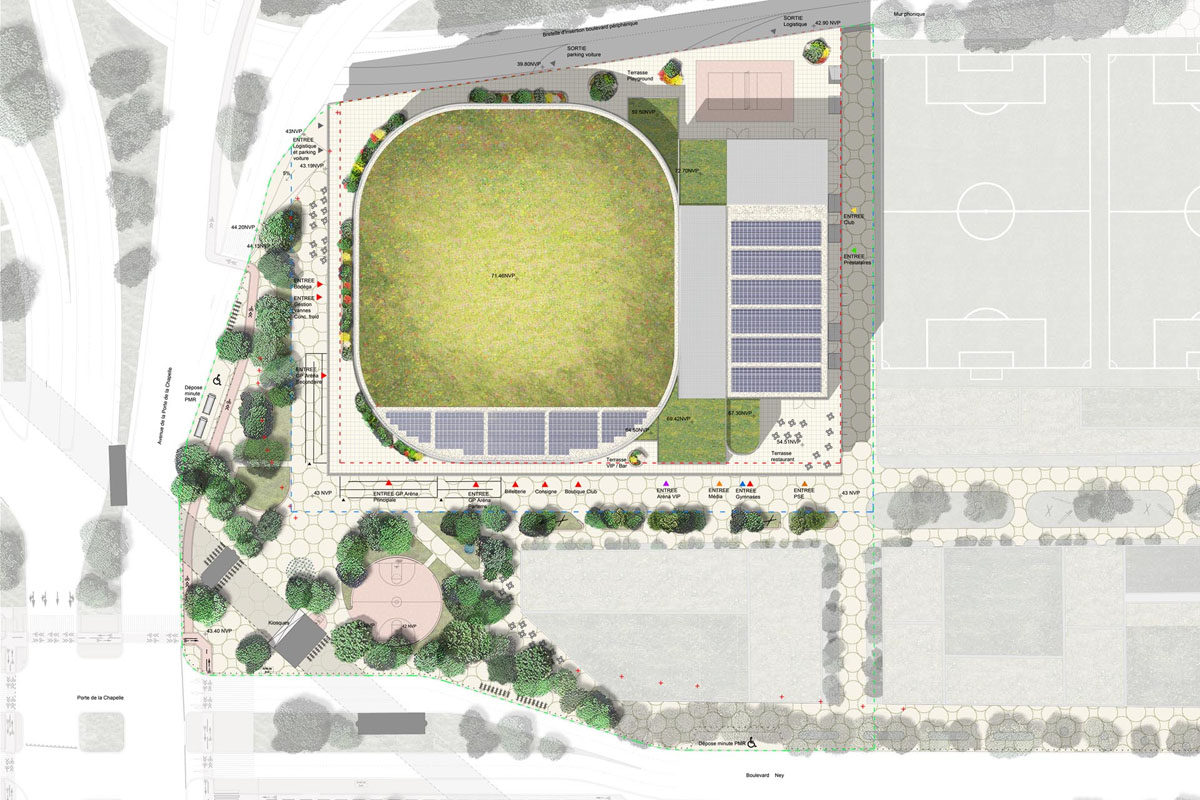 olimpiadi parigi 2024 chapelle arena pianta