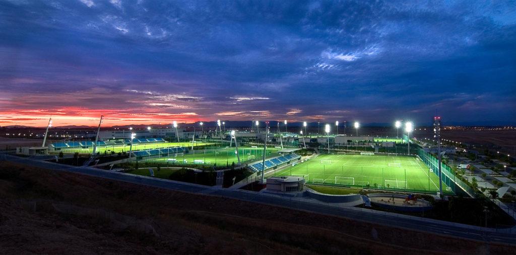 real madrid valdebebas centro sportivo panoramica aerea campi