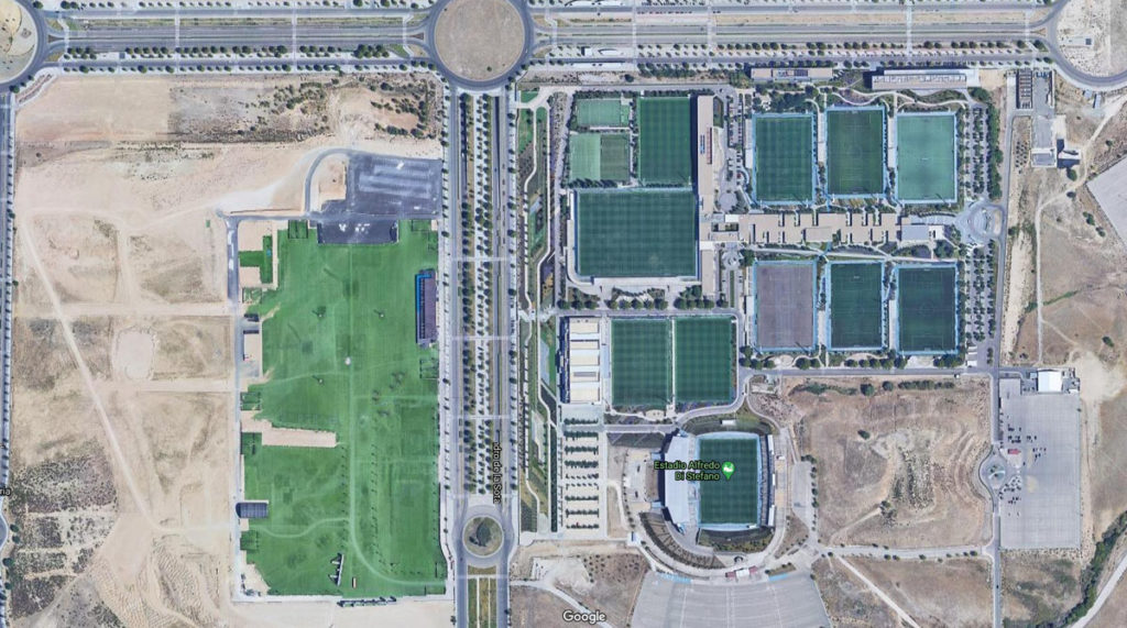 real madrid valdebebas centro sportivo mappa