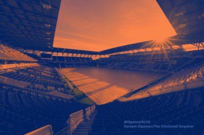 cincinnati stadio west end stadium panoramica interna