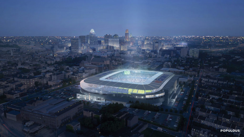 cincinnati stadio west end stadium render panoramico