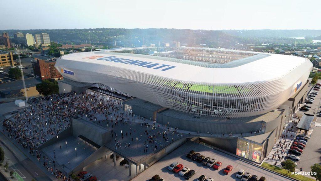 cincinnati stadio west end stadium render esterno