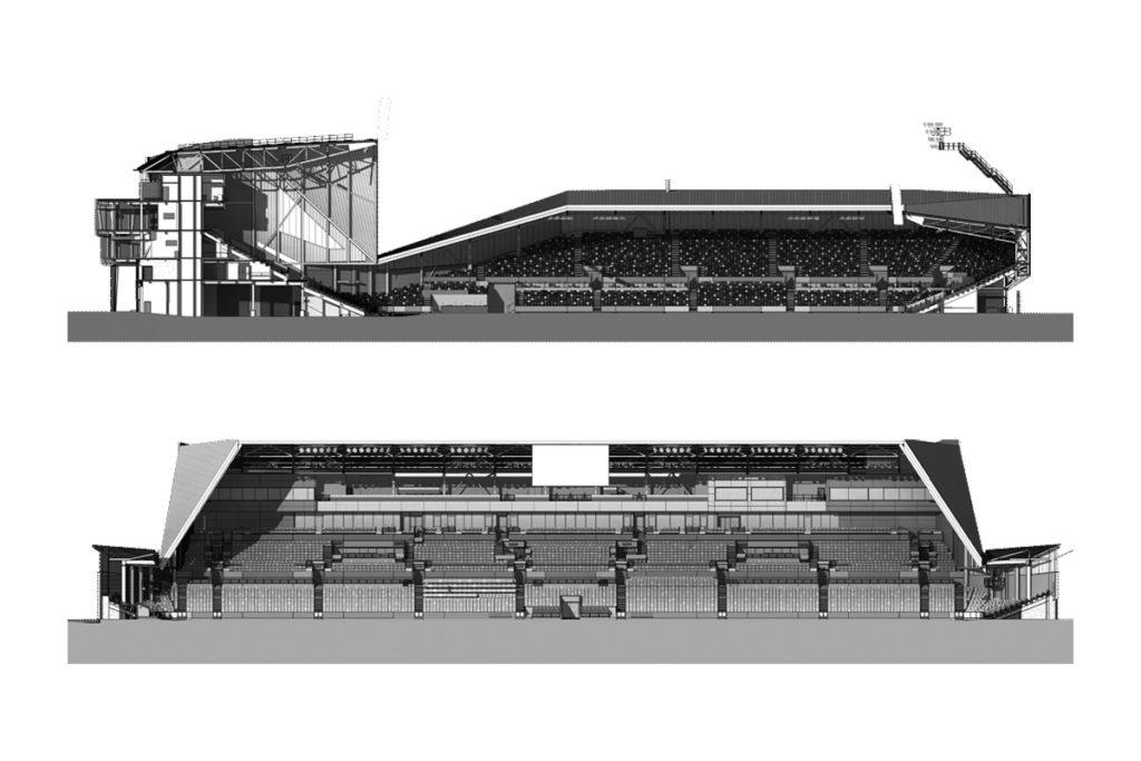 brentford nuovo stadio sezioni