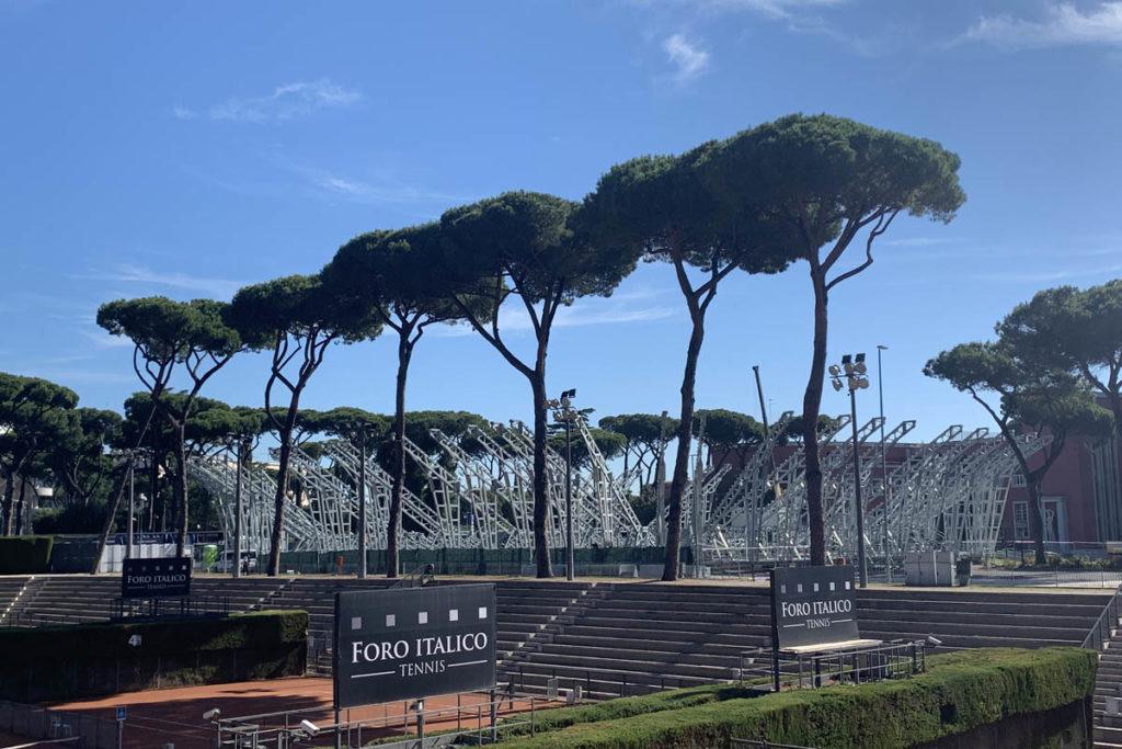 grand stand arena foro italico roma tennis costruzione
