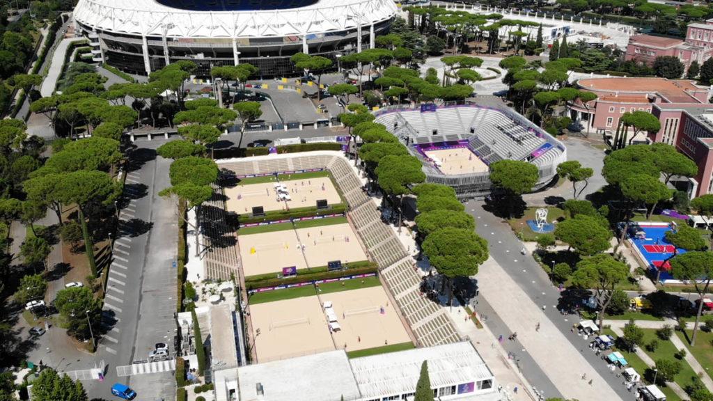 grand stand arena foro italico roma tennis vista aerea