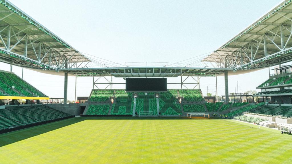 austin nuovo stadio inaugurazione panoramica gradinata