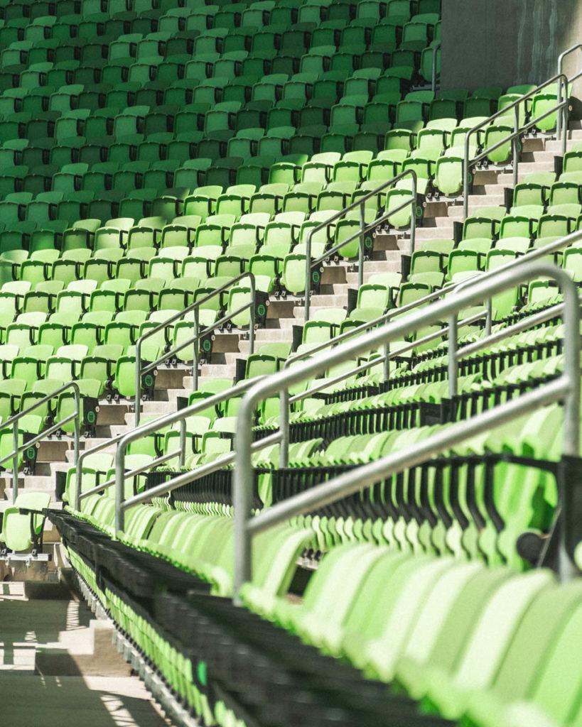 austin nuovo stadio inaugurazione dettaglio gradinata
