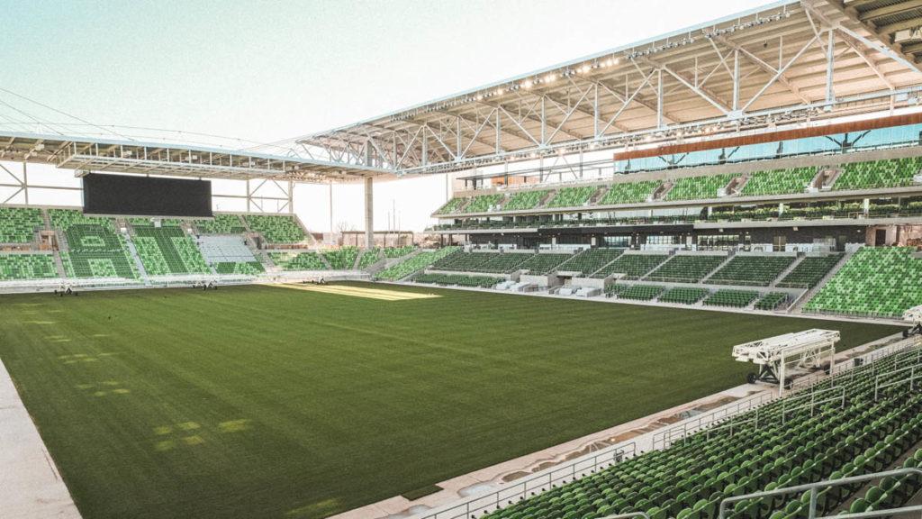 austin nuovo stadio inaugurazione panoramica interna