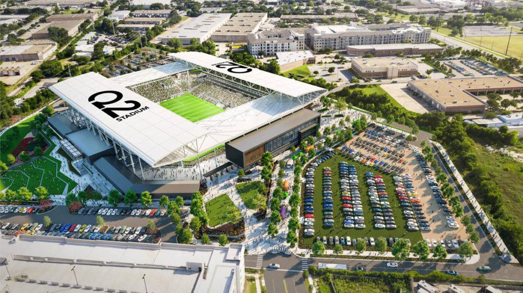 austin nuovo stadio inaugurazione render