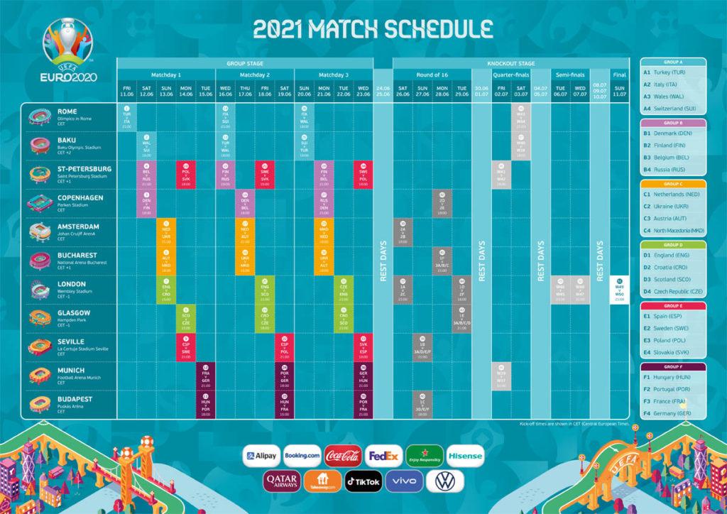 euro 2020 calendario partite