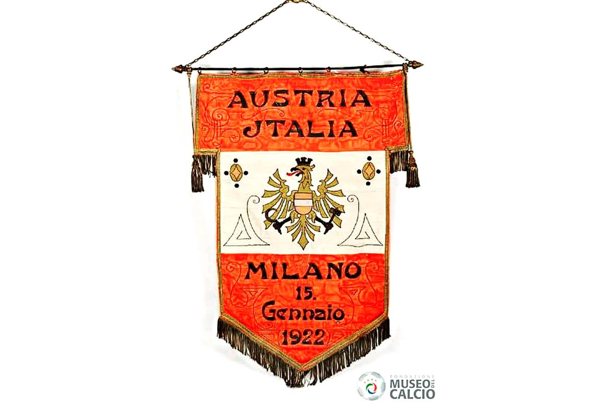 italia-austria gagliardetto 1922 museo calcio euro 2020